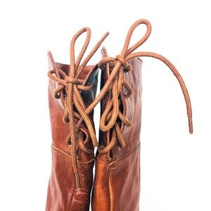 Vince Camuto Shoes - VINCE CAMUTO Cognac Fays OTK Lace Up Riding Boot 7